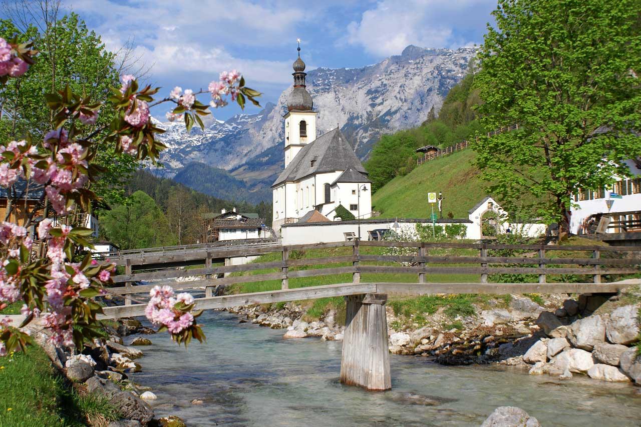 Kirche von Ramsau bei Berchtesgaden