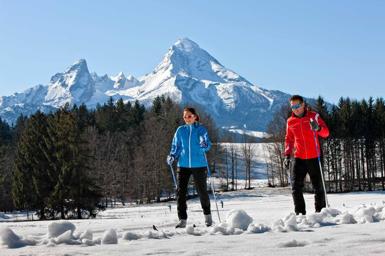 Ski Langlauf in Bischofswiesen bei Berchtesgaden