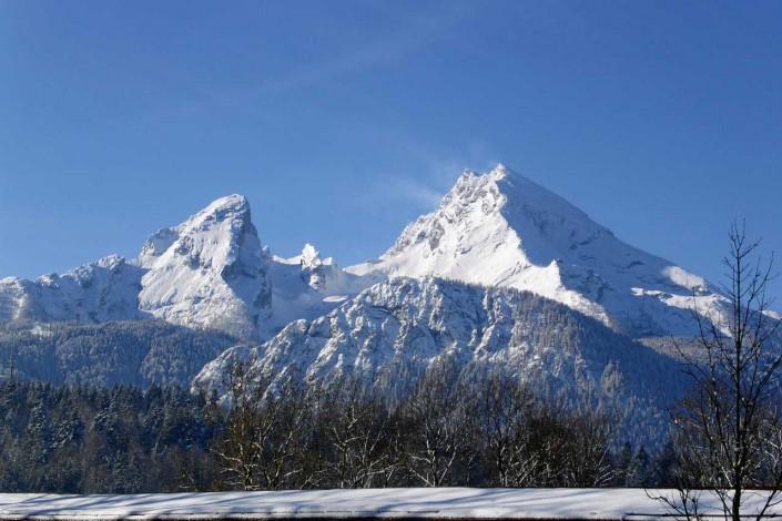 Watzmann mit Watzmannkar im Winter