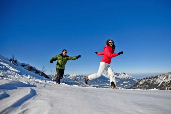 Winterwandern am Obersalzberg nahe dem Kehlsteinhaus