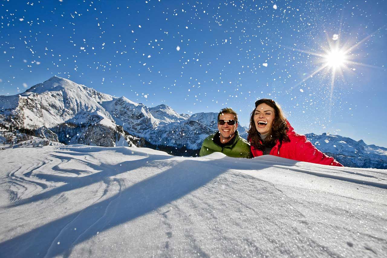Verliebt im Schnee am Jenner im Berchtesgadener Land