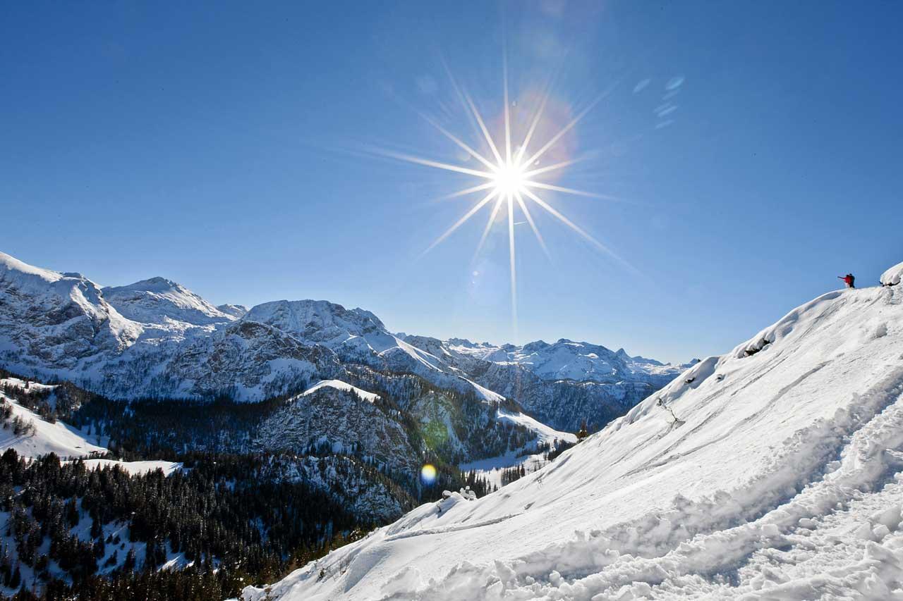 Winterzauber im Skigebiet am Jenner