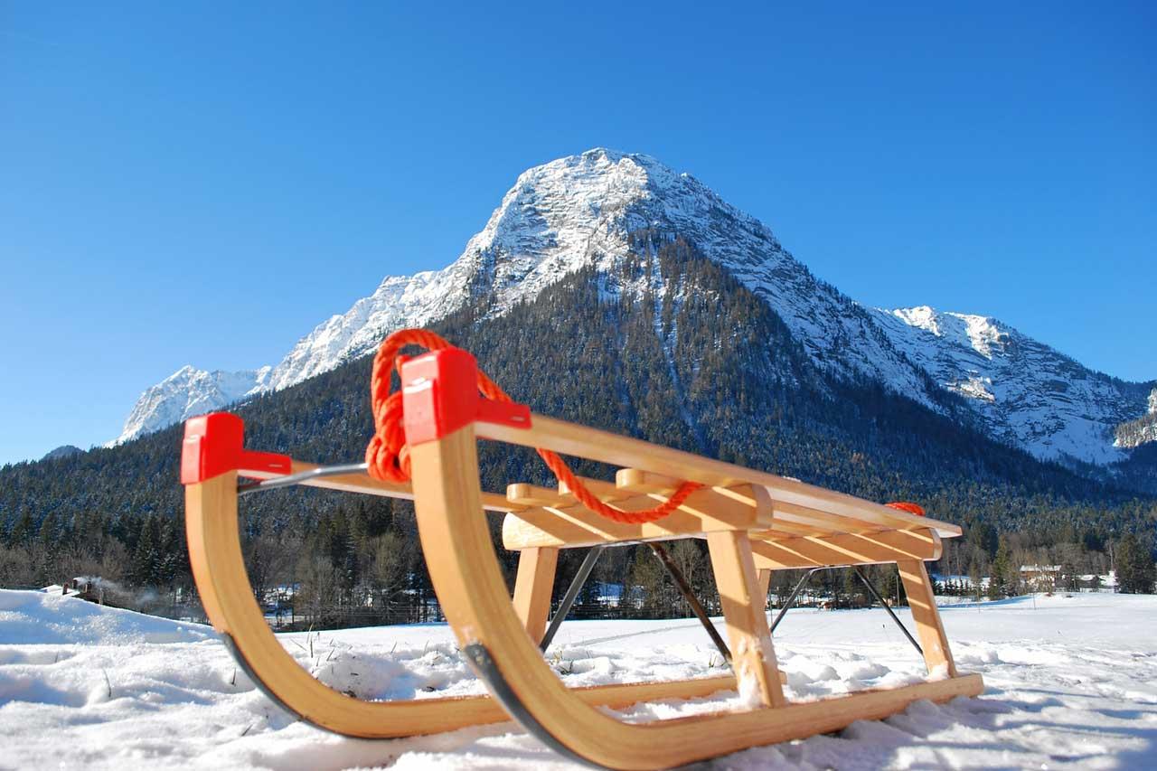 Schlittenfahren in Ramsau bei Berchtesgaden